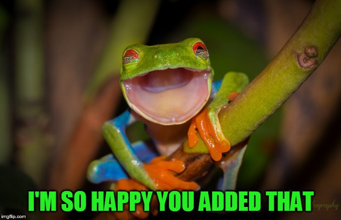 I'M SO HAPPY YOU ADDED THAT | made w/ Imgflip meme maker