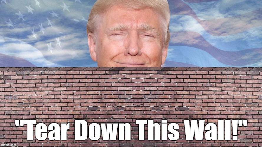 """Tear Down This Wall!"" 