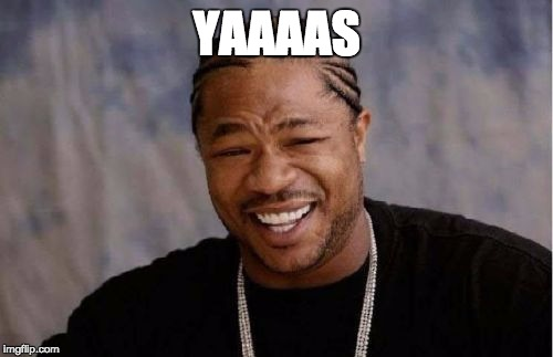 Yo Dawg Heard You Meme | YAAAAS | image tagged in memes,yo dawg heard you | made w/ Imgflip meme maker