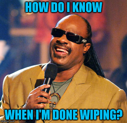 HOW DO I KNOW WHEN I'M DONE WIPING? | made w/ Imgflip meme maker