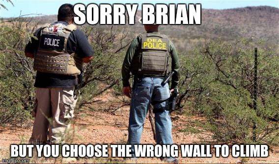 SORRY BRIAN BUT YOU CHOOSE THE WRONG WALL TO CLIMB | made w/ Imgflip meme maker