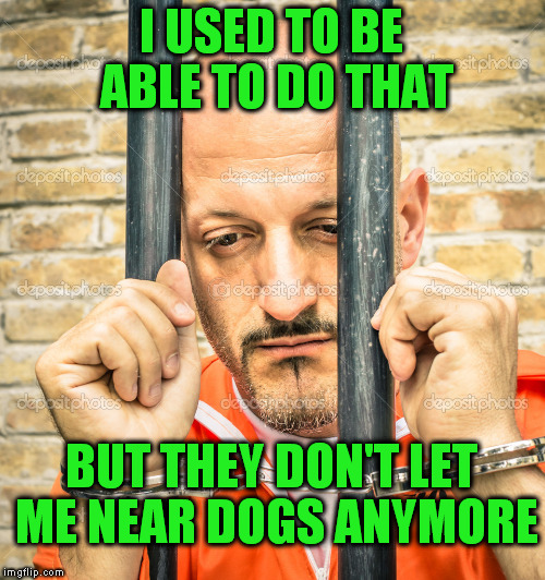 I USED TO BE ABLE TO DO THAT BUT THEY DON'T LET ME NEAR DOGS ANYMORE | made w/ Imgflip meme maker