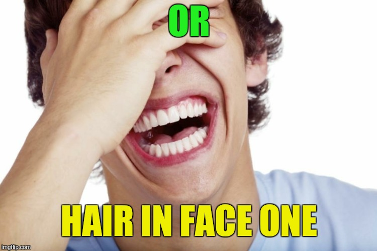 OR HAIR IN FACE ONE | made w/ Imgflip meme maker
