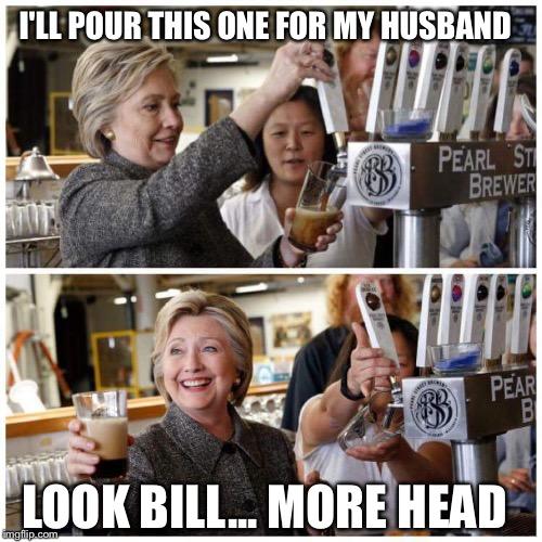 1at6xn hillary gives bill head imgflip