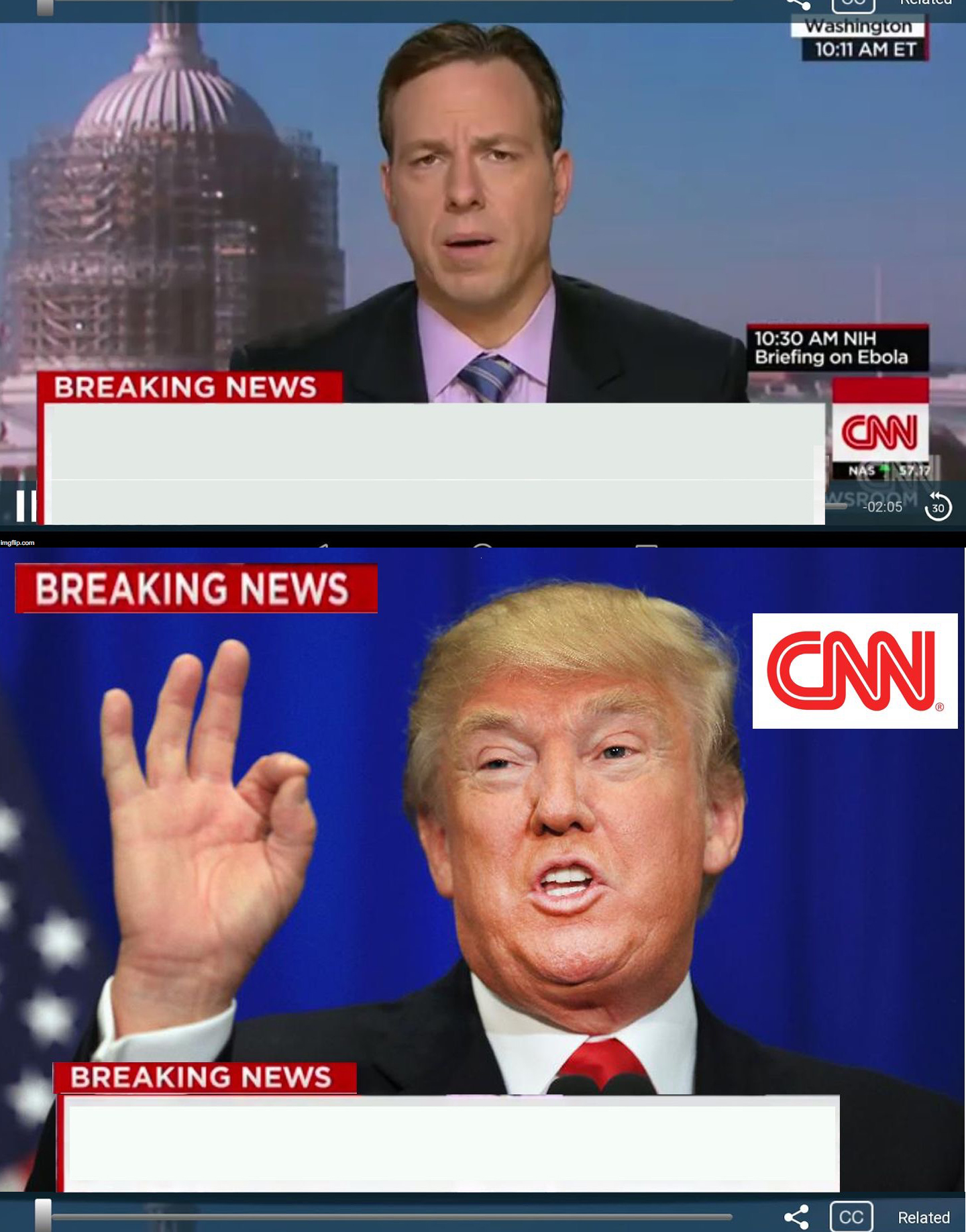 High Quality CNN phony Trump news Blank Meme Template