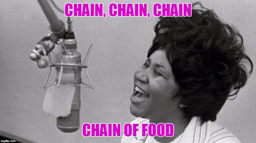 CHAIN, CHAIN, CHAIN CHAIN OF FOOD | made w/ Imgflip meme maker