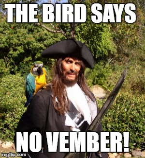 THE BIRD SAYS NO VEMBER! | made w/ Imgflip meme maker