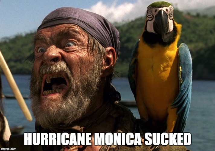 HURRICANE MONICA SUCKED | made w/ Imgflip meme maker