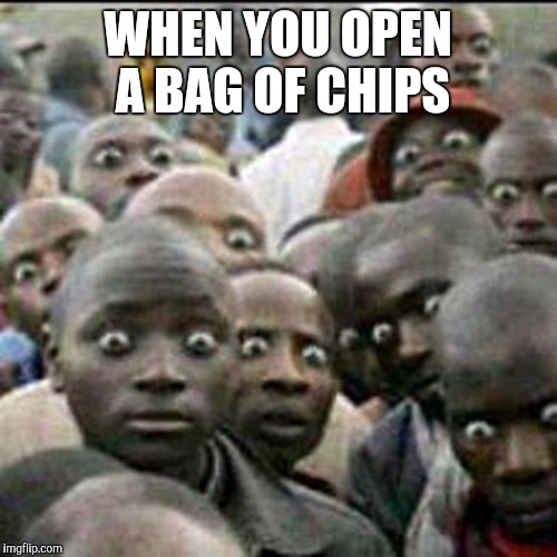 Them people  |  WHEN YOU OPEN A BAG OF CHIPS | image tagged in memes,nigga | made w/ Imgflip meme maker