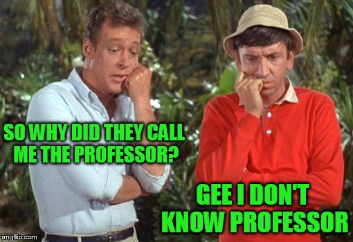 SO WHY DID THEY CALL ME THE PROFESSOR? GEE I DON'T KNOW PROFESSOR | made w/ Imgflip meme maker
