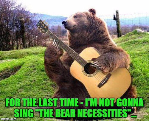 "There's always that one guy... | FOR THE LAST TIME - I'M NOT GONNA SING ""THE BEAR NECESSITIES""... 