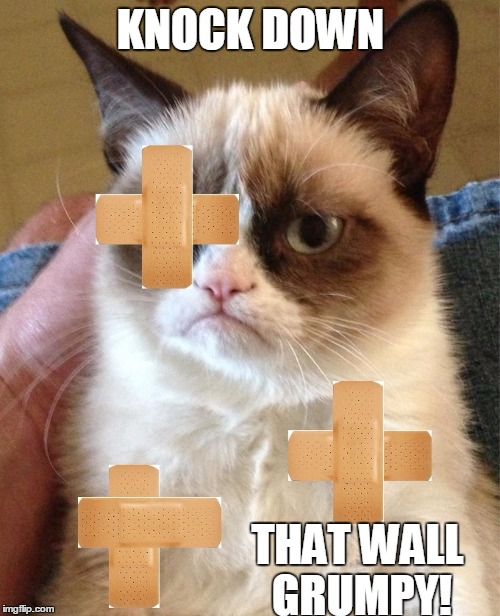 KNOCK DOWN THAT WALL GRUMPY! | made w/ Imgflip meme maker