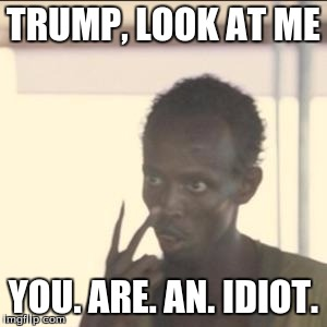 Look At Me | TRUMP, LOOK AT ME YOU. ARE. AN. IDIOT. | image tagged in memes,look at me | made w/ Imgflip meme maker