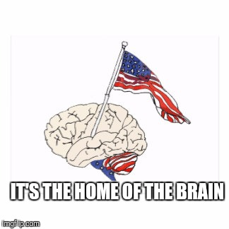 IT'S THE HOME OF THE BRAIN | made w/ Imgflip meme maker
