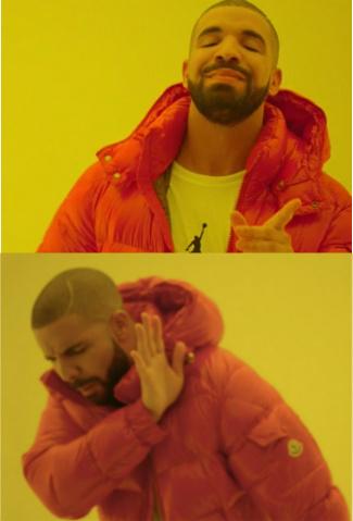 Drake Hotline Bling Blank Template Imgflip