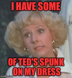 I HAVE SOME OF TED'S SPUNK ON MY DRESS | made w/ Imgflip meme maker