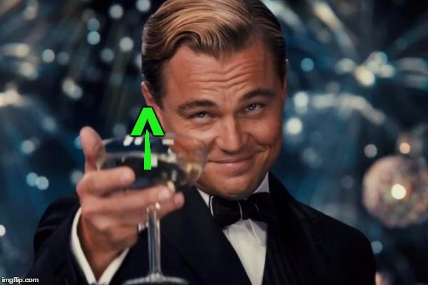 Leonardo Dicaprio Cheers Meme | ^ | image tagged in memes,leonardo dicaprio cheers | made w/ Imgflip meme maker