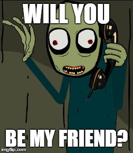 Salad Fingers Wants To Be Friends Imgflip