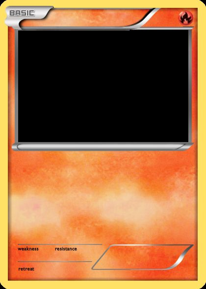 Blank Pokemon Card Blank Template  Imgflip