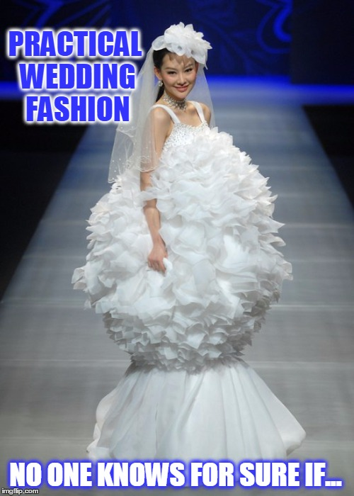 Practical wedding fashion imgflip for Wedding dress to hide pregnancy