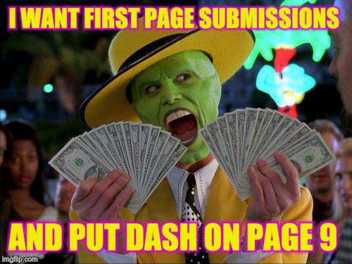 AND PUT DASH ON PAGE 9 | made w/ Imgflip meme maker