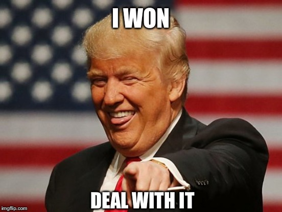 Image result for donald trump meme deal with it