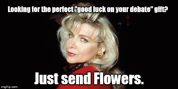 "Works for either party .... kinda  | Looking for the perfect ""good luck on your debate"" gift? Just send Flowers. 