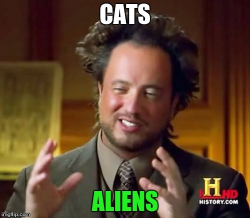 Ancient Aliens Meme | CATS ALIENS | image tagged in memes,ancient aliens | made w/ Imgflip meme maker