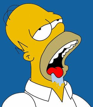 Image result for homer simpson drooling meme