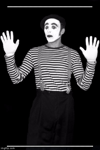 A mime meme. | .................................................................... ..................................................................... | image tagged in mime in the box | made w/ Imgflip meme maker
