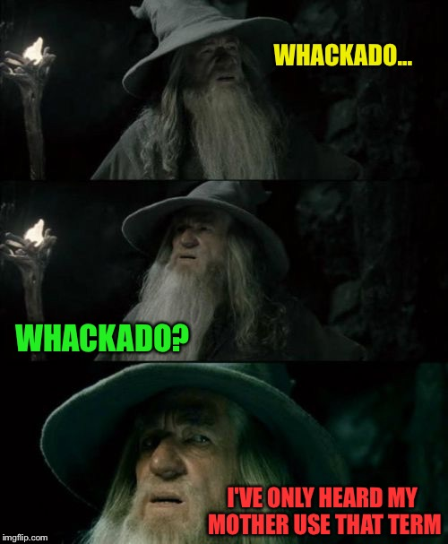 WHACKADO... I'VE ONLY HEARD MY MOTHER USE THAT TERM WHACKADO? | made w/ Imgflip meme maker