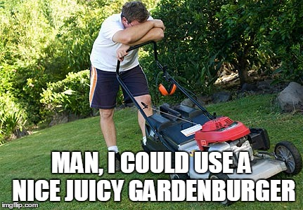 MAN, I COULD USE A NICE JUICY GARDENBURGER | made w/ Imgflip meme maker