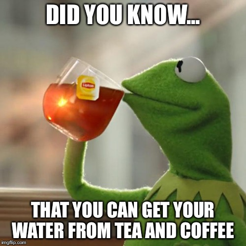 But Thats None Of My Business Meme | DID YOU KNOW... THAT YOU CAN GET YOUR WATER FROM TEA AND COFFEE | image tagged in memes,but thats none of my business,kermit the frog | made w/ Imgflip meme maker