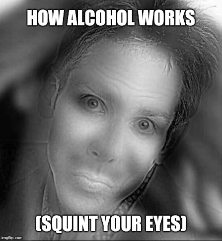 HOW ALCOHOL WORKS (SQUINT YOUR EYES) | image tagged in alcohol,alcoholic,funny memes,memes | made w/ Imgflip meme maker