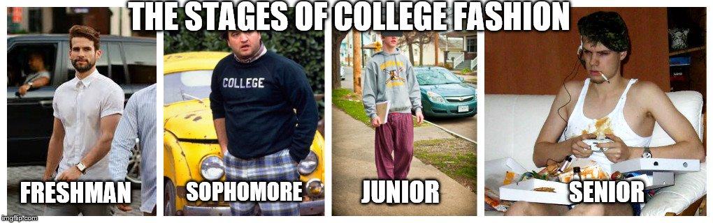 College Freshman Vs Senior Meme - Meme Walls