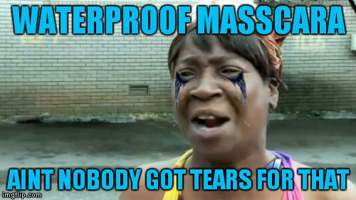 WATERPROOF MASSCARA AINT NOBODY GOT TEARS FOR THAT | made w/ Imgflip meme maker