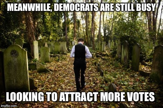 MEANWHILE, DEMOCRATS ARE STILL BUSY LOOKING TO ATTRACT MORE VOTES | made w/ Imgflip meme maker