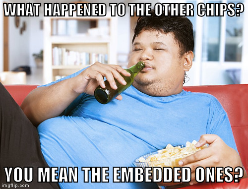 WHAT HAPPENED TO THE OTHER CHIPS? YOU MEAN THE EMBEDDED ONES? | made w/ Imgflip meme maker