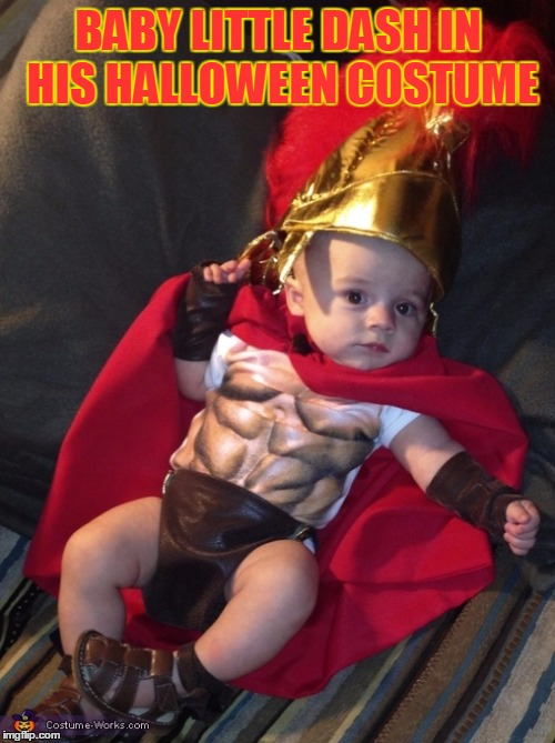 BABY LITTLE DASH IN HIS HALLOWEEN COSTUME | made w/ Imgflip meme maker