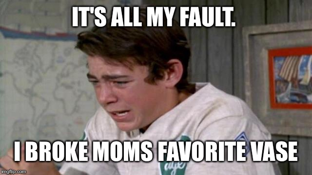 IT'S ALL MY FAULT. I BROKE MOMS FAVORITE VASE | made w/ Imgflip meme maker