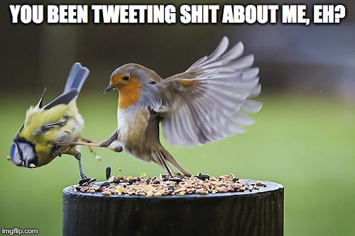 YOU BEEN TWEETING SHIT ABOUT ME, EH? | made w/ Imgflip meme maker