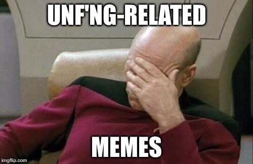 UNF'NG-RELATED MEMES | image tagged in memes,captain picard facepalm | made w/ Imgflip meme maker