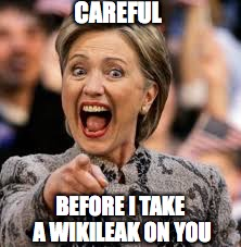 CAREFUL BEFORE I TAKE A WIKILEAK ON YOU | made w/ Imgflip meme maker