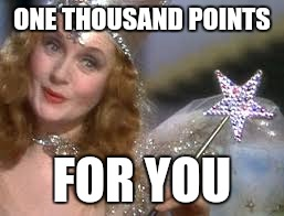 ONE THOUSAND POINTS FOR YOU | image tagged in good witch | made w/ Imgflip meme maker