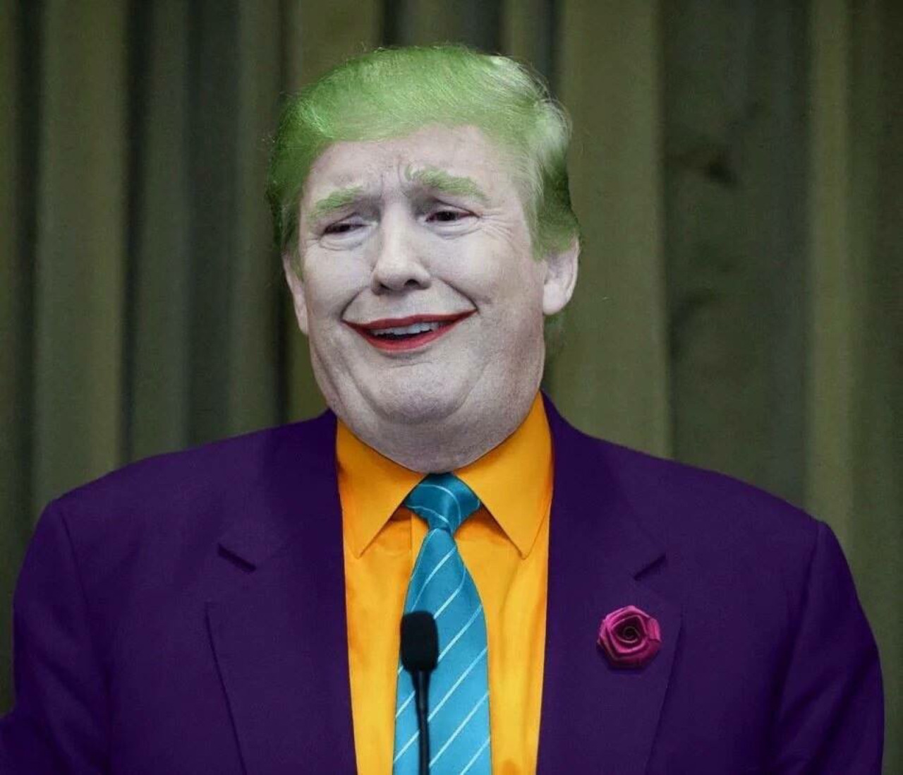 High Quality Donald Trump As A Joker Blank Meme Template