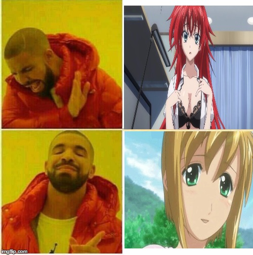 The Truth over Anime | image tagged in drake hotline approves,anime,boku no pico,rias,highschool dxd,nsfw | made w/ Imgflip meme maker