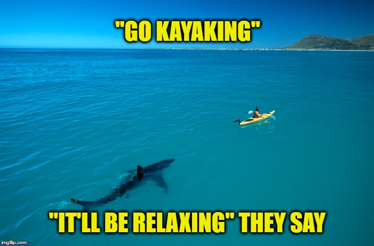 "Relaxing in the Water | ""GO KAYAKING"" ""IT'LL BE RELAXING"" THEY SAY 