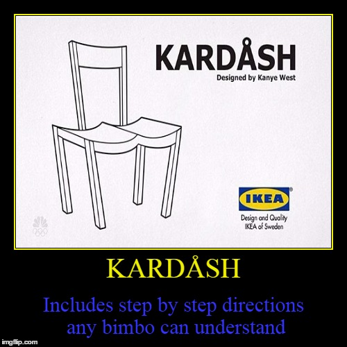Batteries not included | KARDÅSH | Includes step by step directions any bimbo can understand | image tagged in funny,demotivationals,trhtimmy,kim kardashian,kanye west | made w/ Imgflip demotivational maker