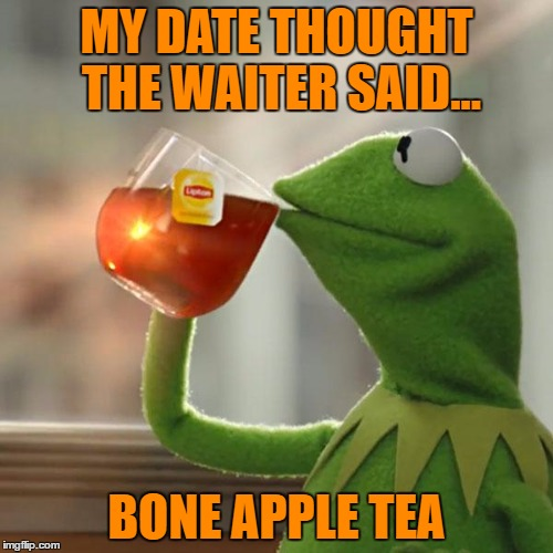 "Another Facebook Moment... or was it ""Bone App the Teeth"" she asked! 