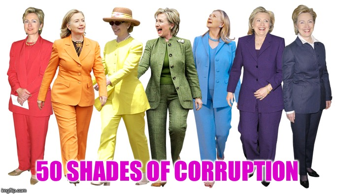 It's her greatest strength | 50 SHADES OF CORRUPTION | image tagged in united colors of hillary,corruption | made w/ Imgflip meme maker